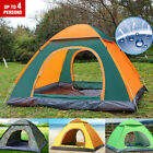 2-4 Person Portable Instant POP UP Tent Camping Dome Outdoor Camping Shelter Bag