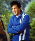 ELVIS PRESLEY RED COTTON  SLIM FIT SPEEDWAY JACKET WITH WHITE STRIPES