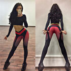 Hot Sexy New Fashion Cage Fishnet Spandex Leggings Workout Sport Pants Gym Cloth