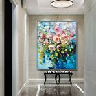 YA#891 Modern Room decoration Hand-painted oil painting on canvas Flower Rose