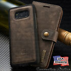 Galaxy S9/S8+ Plus Note 8 Leather Removable Wallet Magnetic Flip Card Case Cover
