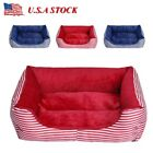 Dog Luxury sofa Doghouse Stripe Bed Puppy Pets Cat Cushion Kennel Blanket Mats