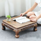 Wenge tea tray solid wood kang table handmade tea table square Chinese style new
