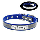 Reflective Personalised Dog Collar Cat Puppy Small Dog Collar Name Phone Engrave