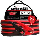 Battery Jumper Cables TOPDC 1, 2 Gauge 20-25-FT 700Amp Heavy Duty Booster Cables