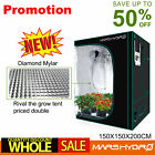 100% Reflective Indoor Grow Tent Room Box 1680D Mylar Hydroponic Non Toxic Hut