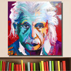 Hand Painted Abstract Canvas Oil Painting Home Decor Einstein Portrait Pop Art