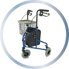 Z-Tec Ultra Lightweight Aluminium Tri Wheeled Walker WITH Bag, Basket and Tray