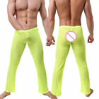 Men's Pajamas Mesh See Through Home Lounge Pants Nightwear Underwear Bottoms US