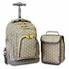 J World Lollipop Rolling Backpack with Lunch Bag