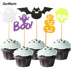 20x Halloween Props Cake Decoration Felt Cupcake Toppers Pum