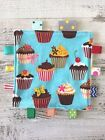 Ribbon Taggie Toy For Baby, With Optional Crinkle Added  Blue Cupcakes