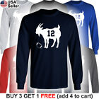 GOAT Long T-Shirt Tom Brady 12 New England Patriots Greatest of all Time Jersey on eBay