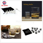 WHISKY ICE 9STONES 6BULLETS DRINK COOLER CUBES WHISKEY SCOTCH ROCKS GRANITE hhbb