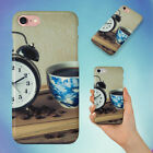 ALARM CLOCK BLACK COFFEE BOOK CAFFEINE HARD BACK CASE FOR APPLE IPHONE PHONE