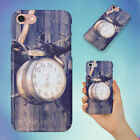 ALARM CLOCK HANGING ON BRANCH HARD BACK CASE FOR APPLE IPHONE PHONE