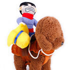 Costume Cowboy Dog Pet Halloween Hat Clothes Cowboy Knight Pet Clothing