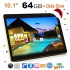 10.1'' 4GB+64GB Android 6.0 Tablet PC Octa 8 Core HD WIFI Bluetooth Dual SIM ZX