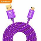 1m 2m 3m Micro USB Cable Fast Charger Data Sync Braided Charging Lead Samsung LG