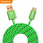 Micro USB Cable Fast Charger Data Sync Braided Lead Samsung Android Mobile Phone