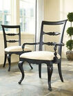 2 Thomasville Furniture Vintage Chateau Side Dining Chairs Set/Pair Cafe Noire