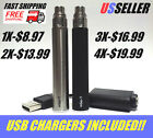 510 Thread Rechargeable Pen Batteries  +USB Chargers! 900mah