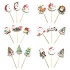 3pcs christmas cake topper xmas cupcake toppers birthday wed