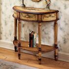Butler Demilune Console Table - Light hand-painted