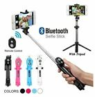 Extendable Selfie Stick Tripod Wireless Remote Bluetooth Shutter Fit IOS Android