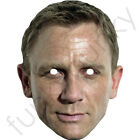 Daniel Craig James Bond Celebrity Actor Card Mask - All Our Masks Are Fully Cut £2.59 GBP on eBay