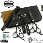 Sharpy - Professional Black Hairdressing & Thinning Barber Scissors Set 6.5 Inch