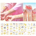3Pc Temporary Tattoo Stickers Gold Bride Team Hens Night Bachelor Party Supply