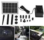 Solar Brushless Pump Water Cycle Pond Fountain Gardening Energy Fountain Garden