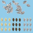 100x Vintage Leaf Charms Hair Clasps Hairpins Jewelry DIY Accessories Findings