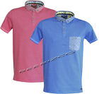 Mens Brave Soul Jersey Collared Striped Polo Short Sleeved Summer Denim T-Shirt