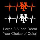 New York Mets Heartbeat Large 8.5 Inch Vinyl Decal Sticker - Car - Window - NY