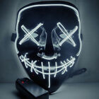 Halloween Cosplay Led Costume Mask Wire Light Up The Purge Movie Scary Mask