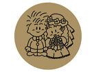 Bride & Groom Envelope Seals / Stickers for Wedding Invitation, Colours Avail.