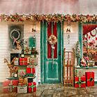 8x8/10x10ft Xmas Seamless Backgrounds Christmas Tree Gifts Photography Backdrops