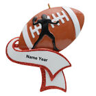 Personalized Football Ornaments-- Football Boy/Man/Coach Christmas Ornament