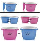 TUPPERWARE 1 or 2 20oz SERVALIER BOWLS W/ ONE TOUCH ACCORDIO