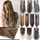 "Long Thick 17""-26"" Clip in Full Head Natural Human Hair Exte"
