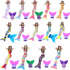 Kids Girls Women Fin Fairy Mermaid Tail Monofin Swimmable Swimming Swim Costume