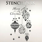 Merry Christmas Decoration Decor Bedroom Reusable Craft Stencil A5 A4 A3 059