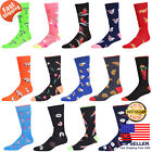 Mens Fashion Novelty Retro Funky Funny Food Dog Shark Painting Socks 10-13 2Pair
