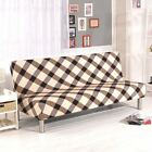 Armless Solid Folding Elastic Couch Lounge Futon Sofa Cover Protector Slipcovers
