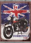 """TRIUMPH BONNEVILLE RETRO"", Metal Plaque/Sign Pub, Bar, Man Cave Novelty Gift $5.15 USD on eBay"