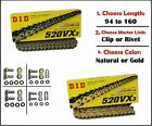 D.I.D DID 520 VX2 Xring Motorcycle Drive Chain Gold or Natural with Master Link image