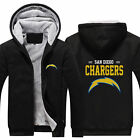 San Diego Chargers Sweater Zipper Thicken Hoodie Unisex Jacket Winter Coat $36.99 USD on eBay