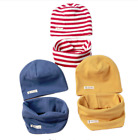 Winter Hat Scarf For Kids Boy Girl Beanie Scarf-Collar Head Neck Accessories New
